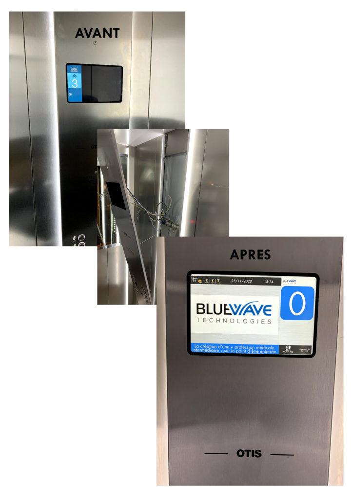 Integration Ecran Connecte Ascenseur Serenite Bluewave Technologies